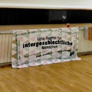 Banner 2016 zu Intergeschlechtlichkeit
